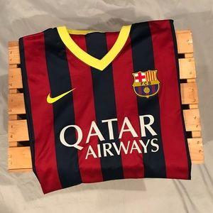 FC Barcelona Nike Dri-Fit Soccer Jersey Size Large